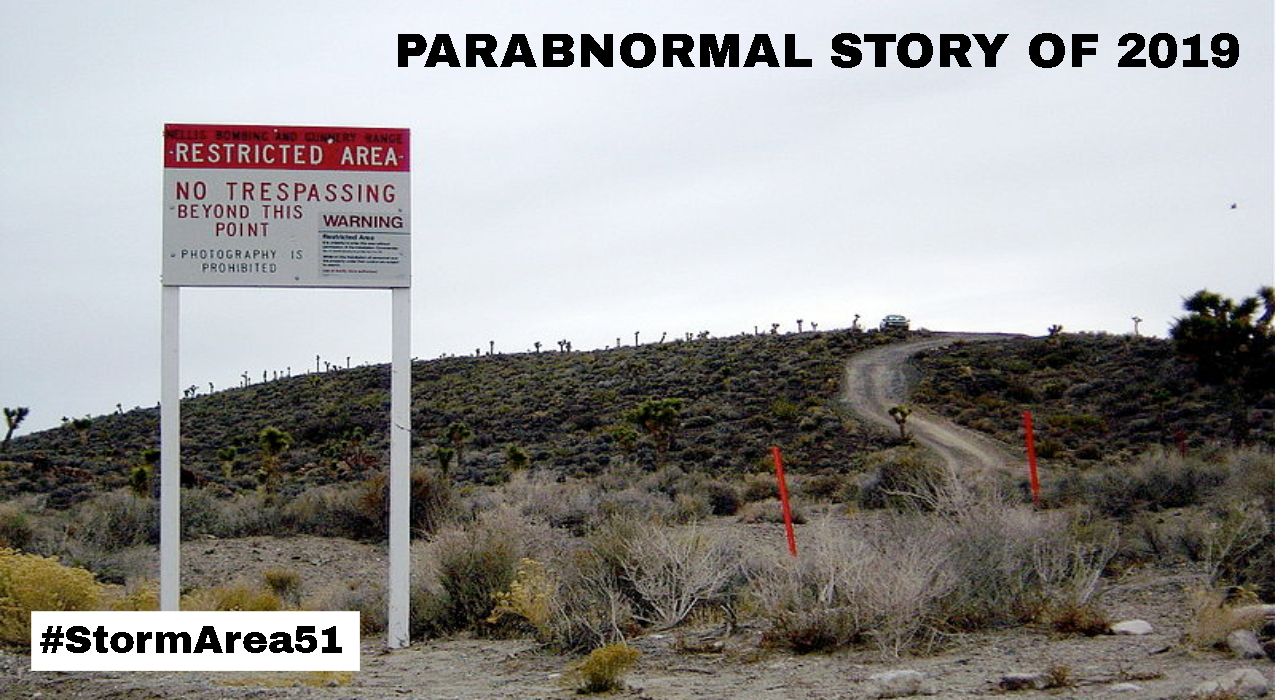 Thumbnail for 'Storm Area 51' Voted Parabnormal Story of 2019